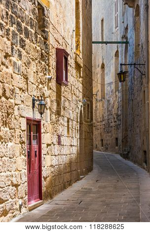 traditional street in Mdina