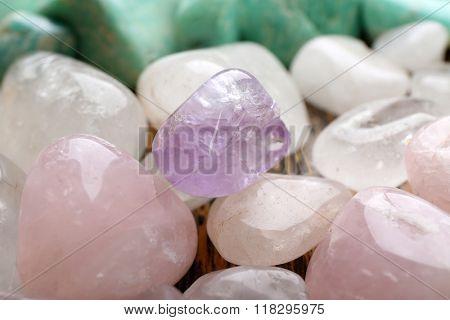 Semiprecious stones background