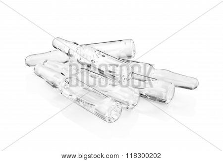 Medical Ampules Isolated On A White Background