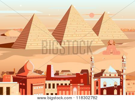 Pyramid and Sphinx of Giza, Egypt