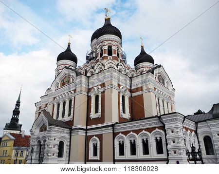 Alexander Nevsky Cathedral In Tallinn.
