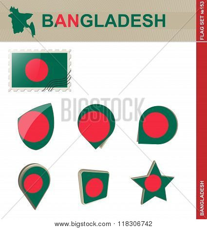 Bangladesh Flag Set, Flag Set #153
