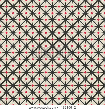 Black And Red Rhombus Seamless Geometric Pattern