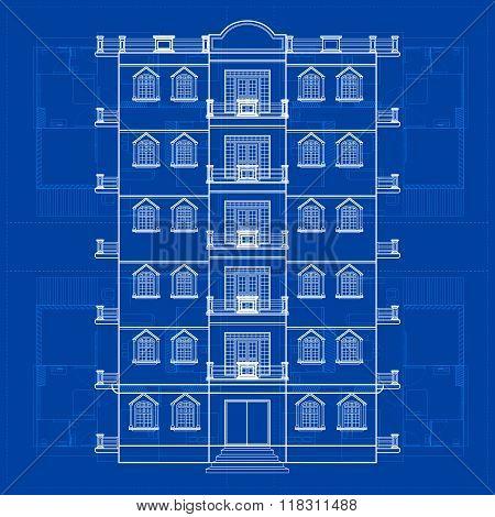 Blueprint of Building
