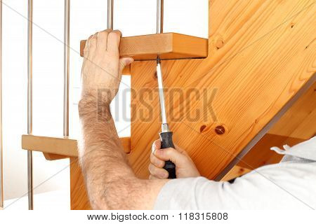 Screwing On Stairs