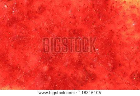 Strawberry jam background