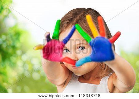Kid painting.