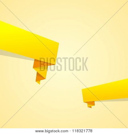 Blank Yellow Banners With Copy Space
