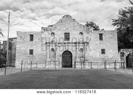Historic Alamo At Twilight