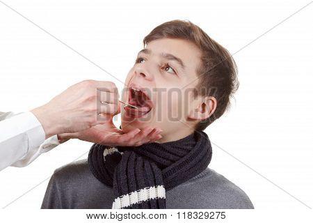 Boy Medical Exam Pharynx And Tonsils