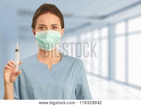 Syringe.
