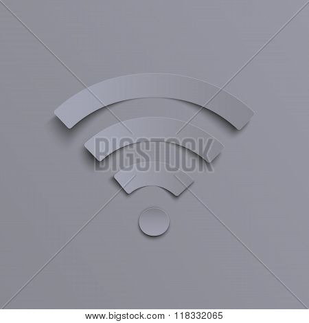 Wi-fi icon on grey background.