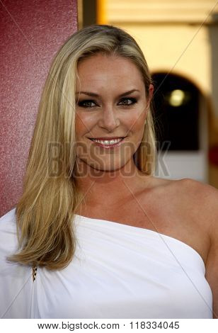 Lindsey Vonn at the Los Angeles premiere of 'The Hangover Part II' held at the Grauman's Chinese Theatre in Hollywood, USA on May 19, 2011.