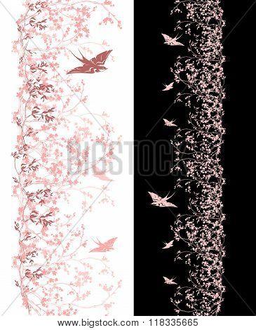 Spring Season Decor With Swallows