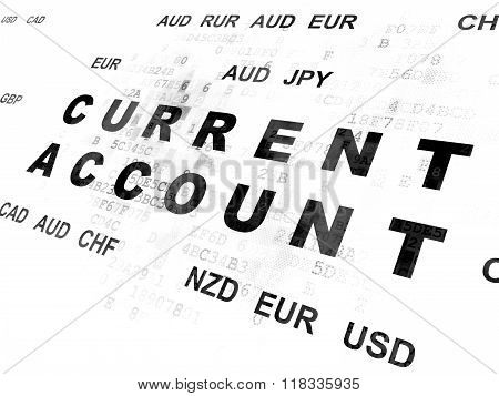 Banking concept: Current Account on Digital background