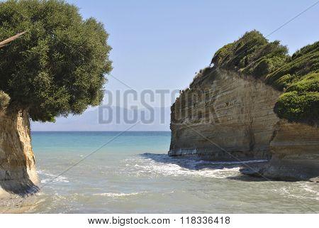 The beach of Sidari