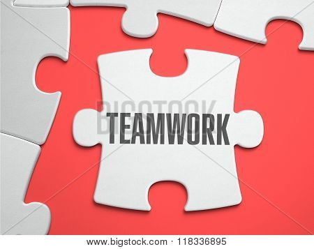 Teamwork - Puzzle on the Place of Missing Pieces.