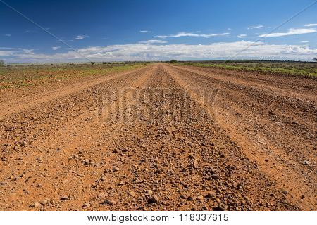The Oodnadatta Track in the outback of Australia