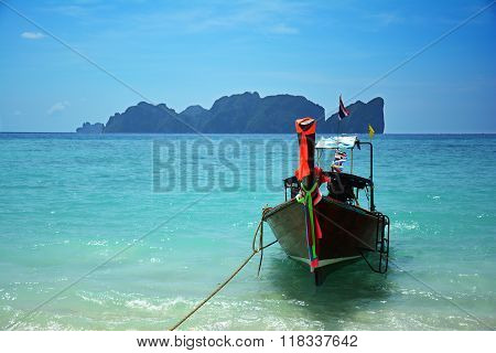 Long tail boat at Koh Phi Phi, Thailand