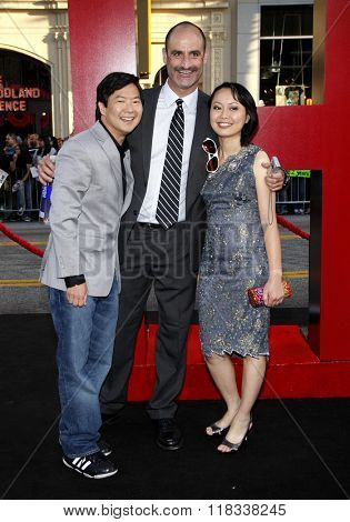 Ken Jeong and wife Tran Jeong at the Los Angeles Premiere of