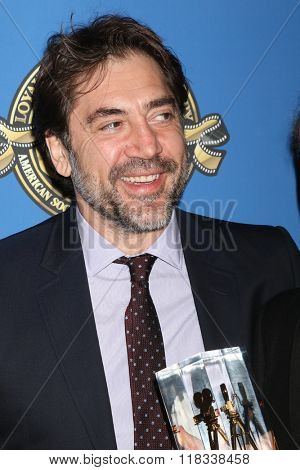 LOS ANGELES - FEB 14:  Javier Bardem at the 2016 American Society of Cinematographers Awards at the Century Plaza Hotel on February 14, 2016 in Century City, CA