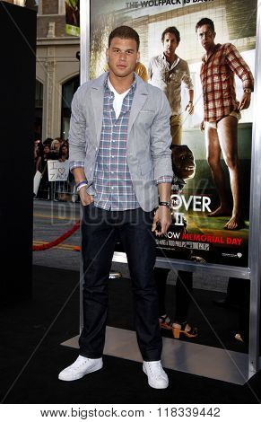 Blake Griffin at the Los Angeles premiere of 'The Hangover Part II' held at the Grauman's Chinese Theatre in Hollywood, USA on May 19, 2011.