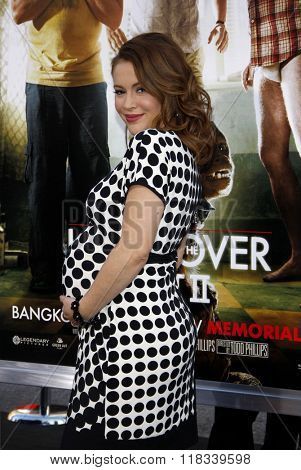 Alyssa Milano at the Los Angeles premiere of 'The Hangover Part II' held at the Grauman's Chinese Theatre in Hollywood, USA on May 19, 2011.
