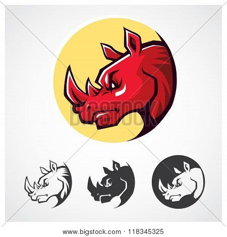 Rhinoceros Head Symbol