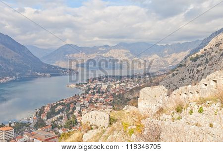 View Of Kotor From St John Castle, Montenegro
