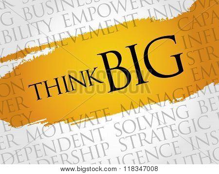 Think Big Word Cloud