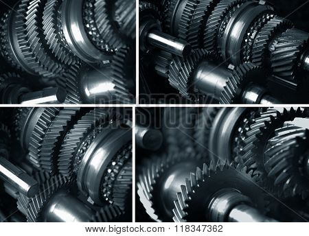 Cogs And Gears Collage
