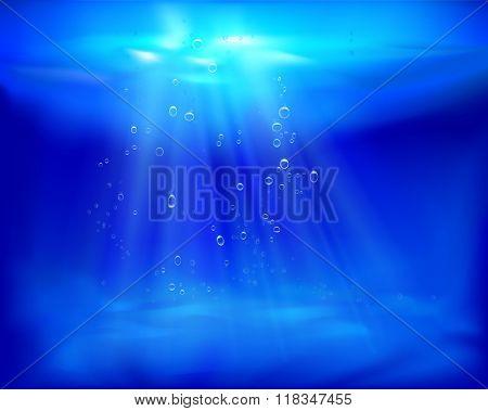 Underwater view. Vector illustration.
