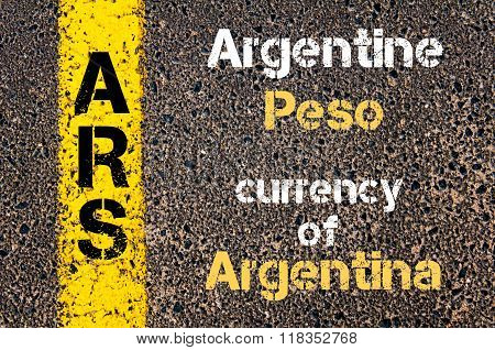 Acronym Ars- Argentine Peso, Currency Of Argentina