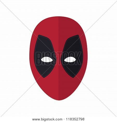 Super Hero mask for face character in flat style. Vector Illustration heroic and savior.