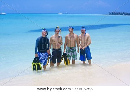 Snorkeling Men and Water Sports