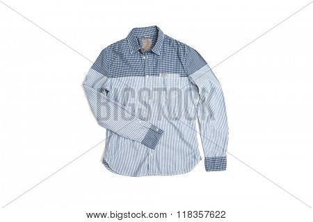 man's shirt isolated on white