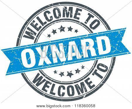 welcome to Oxnard blue round vintage stamp