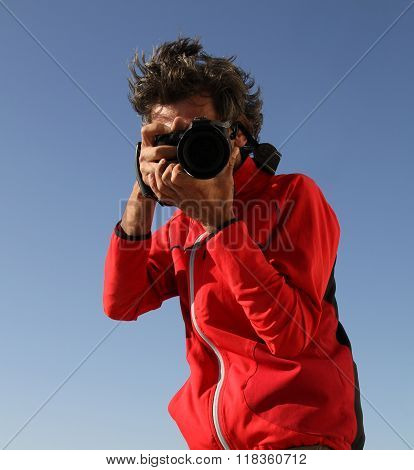 Photographer In A Red Jacket