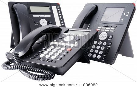 Three Digital Telephone Sets