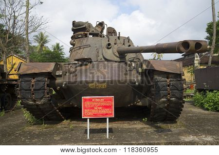 The American tank M48 in the Museum of Hue city, Vietnam