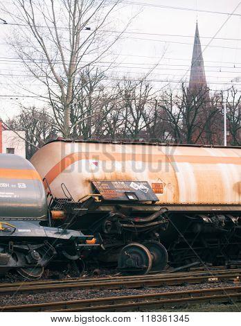 Derailed Train In Poland
