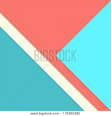 Infographic template with bright paper layers - abstract simple flat background