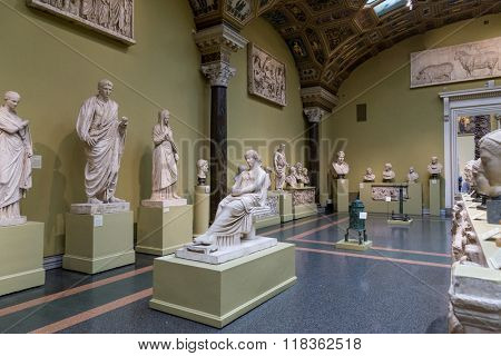 Moscow, Russia - October 29, 2015: Pushkin Museum of Fine Arts in Moscow