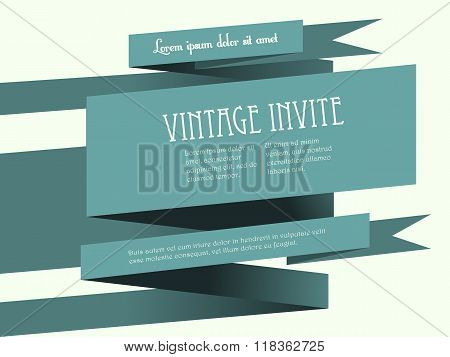 Vintage Banner Invite With Text