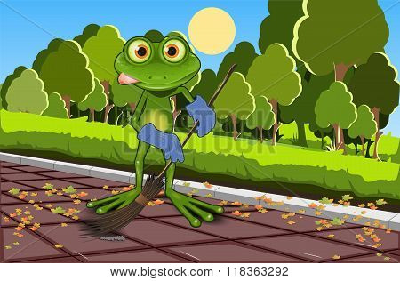 Frog Sweeping Track