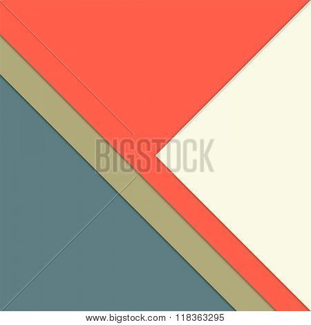 Paper layer template - multicolored minimalist background