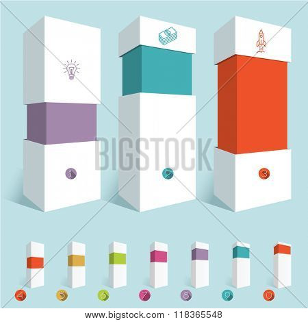 Infographic chart design elements.Vector diagram mock up.