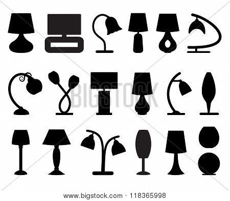 Lamps Silhouette set