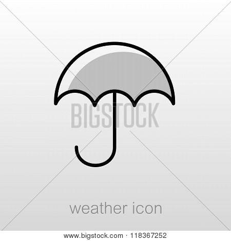 Umbrella Rain Icon. Meteorology. Weather