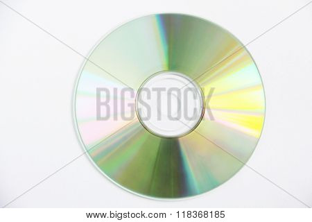 Clean compact disk isolated on white photo